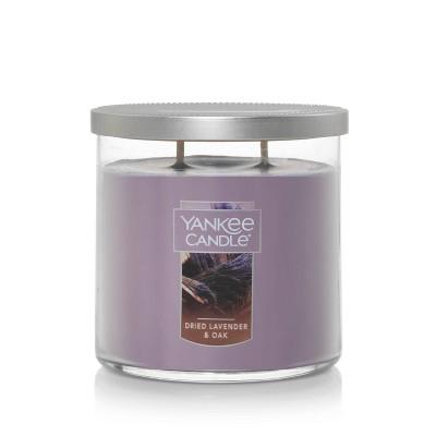 12.5oz Lidded Glass Jar 2-Wick Dried Lavender Oak Candle - Yankee Candle
