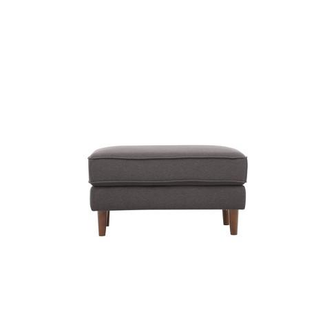 Pleasant Tatiana Mid Century Modern Ottoman Lifestyle Solutions Unemploymentrelief Wooden Chair Designs For Living Room Unemploymentrelieforg