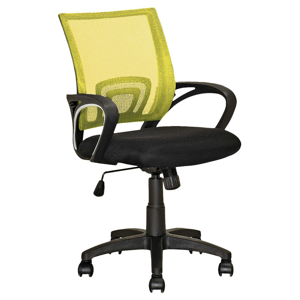 Workspace Mesh Back Office Chair Yellow - CorLiving