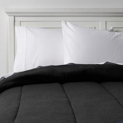 Heather Black Solid Jersey Comforter (Full/Queen)- Room Essentials™