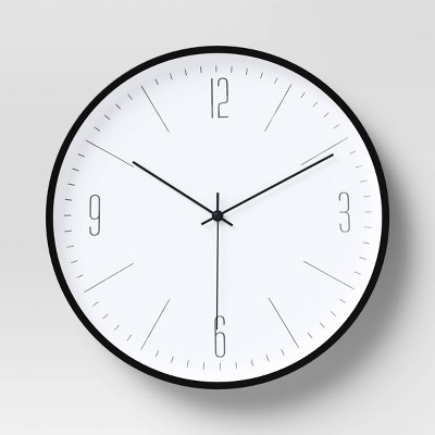 "19"" Plastic Wall Clock White/Black - Project 62™"