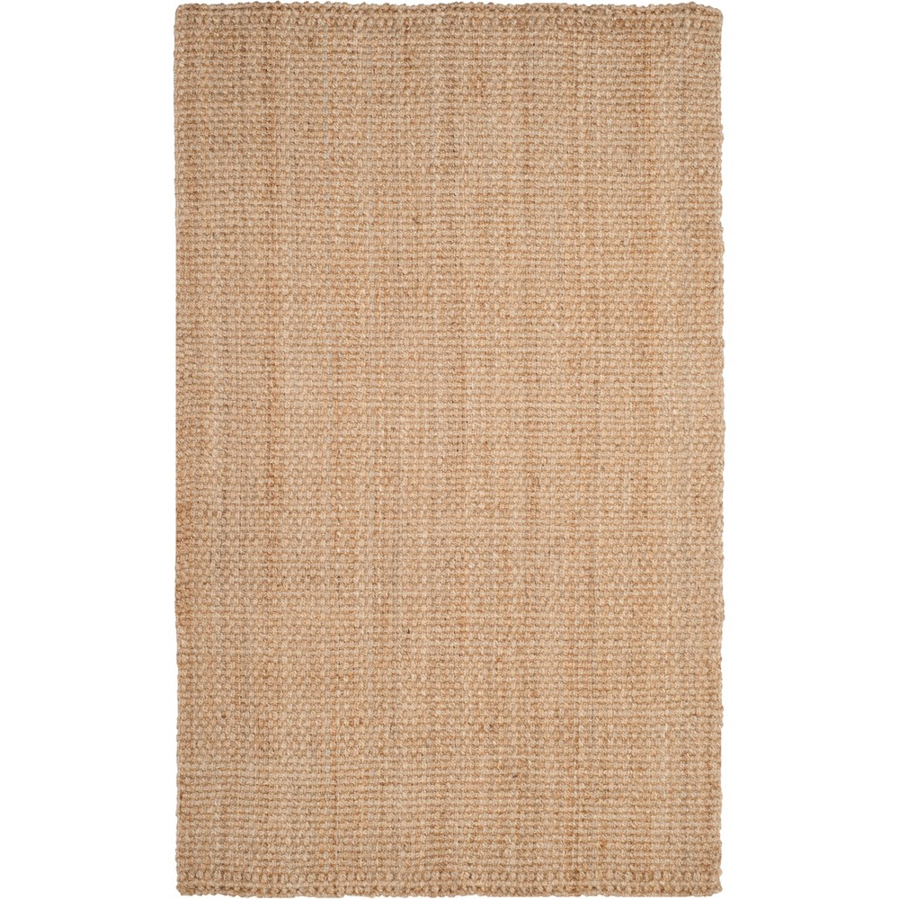 6 X9 Solid Woven Area Rug Natural Safavieh
