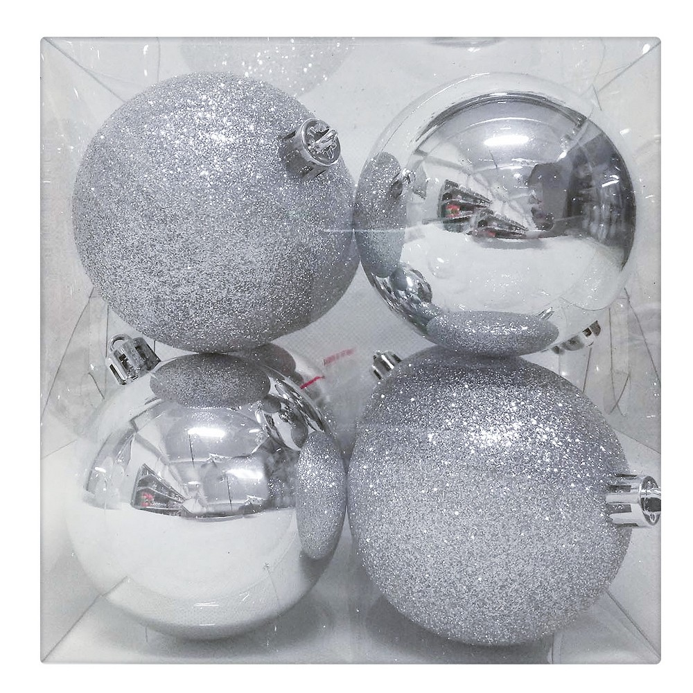 8ct Ornament Set Silver - Wondershop