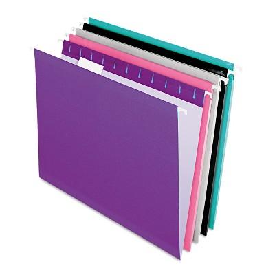 Pendaflex Reinforced Hanging Folders 1/5 Tab Letter Assorted 25/Box 415215ASST2