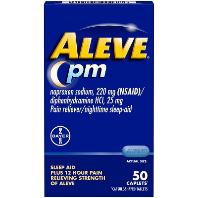 Aleve Naproxen Sodium Nighttime Pain Reliever (NSAID) - 50ct