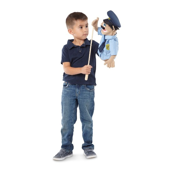 Melissa & Doug Rescue Puppet Set - Police Officer and Firefighter image number null