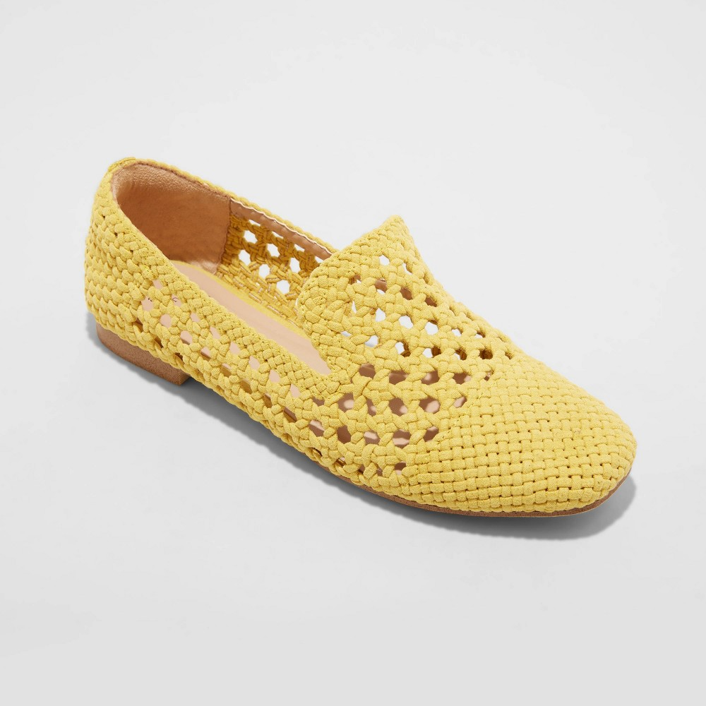 Women 39 S Mallory Woven Loafers A New Day 8482 Yellow 5
