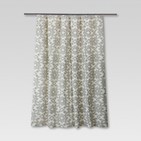 Dashed Shower Curtain