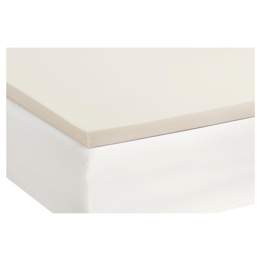 Image of 1.5 Memory Foam Topper (Full) White - Sealy