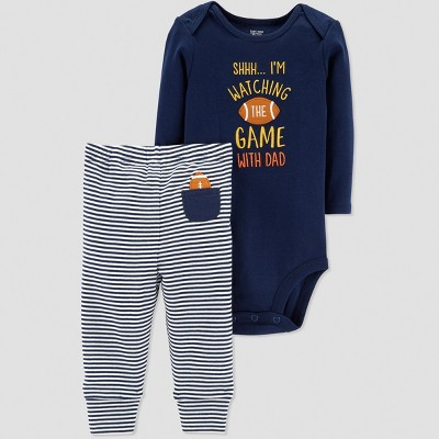 Baby Boys' Thanksgiving 2pc Football Set - Just One You® made by carter's Blue 6M