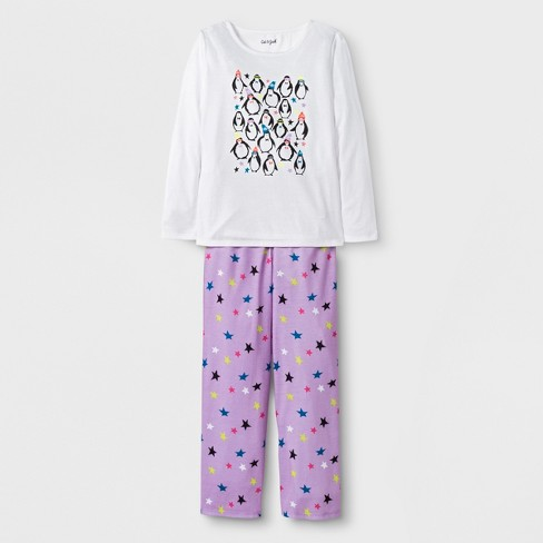 db2cf88be858 Girls  2pc Long Sleeve Penguin Graphic Pajama Set - Cat   Jack ...