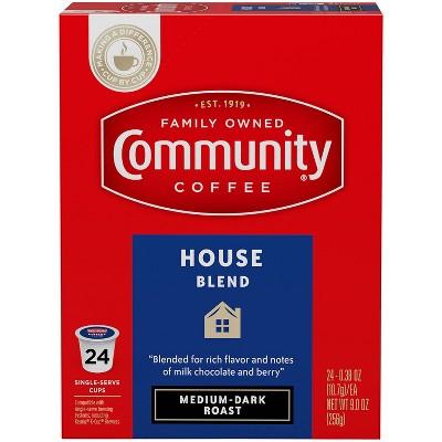 Community Coffee House Blend Medium Roast Coffee - Single Serve Pods - 24ct
