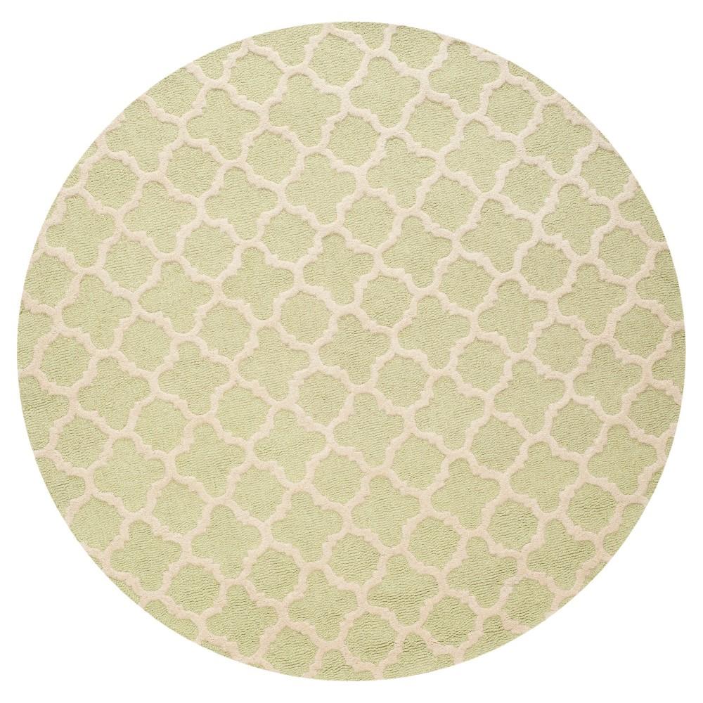 6' Geometric Area Rug Light Green - Safavieh