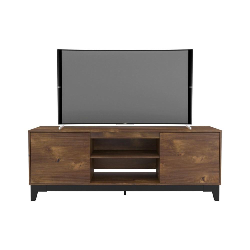 Rhapsody 2 Door Tv Stand Tvs Up To 72 34 Black Truffle Nexera