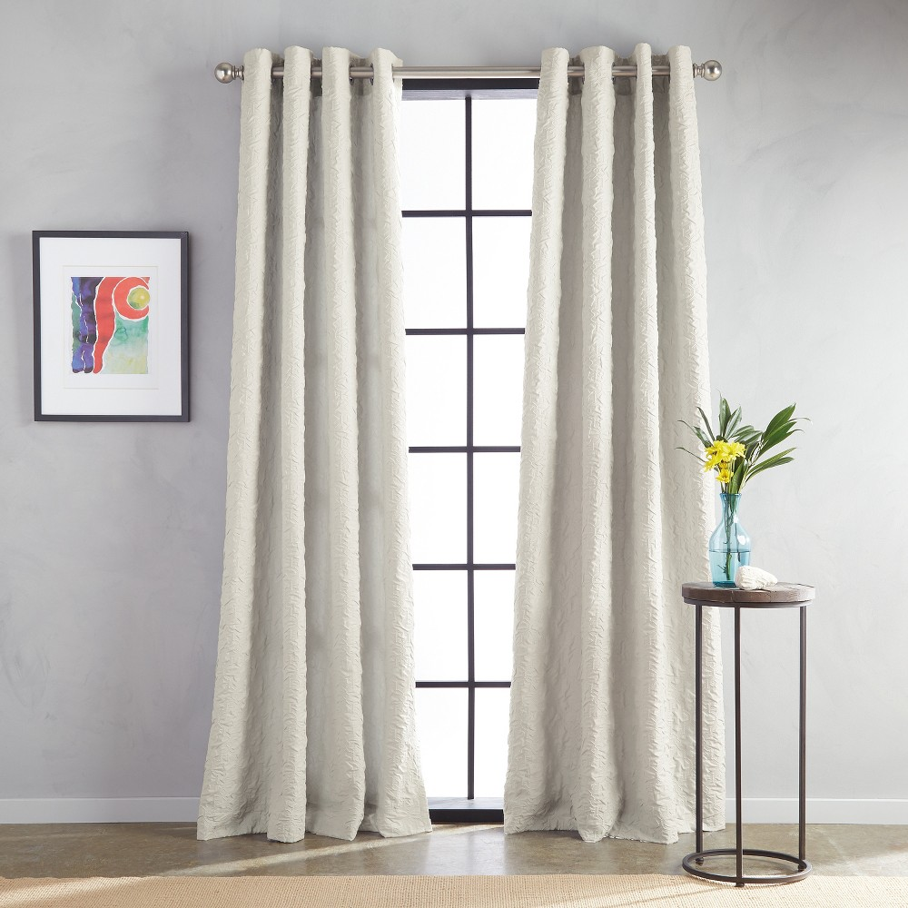 "Image of ""108"""" Calista Grommet Lined Curtain Panel Taupe"""