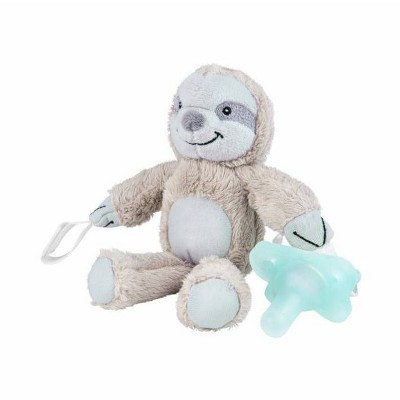 Dr. Brown's Lovey Pacifier and Teether Holder with HappyPaci Silicone Pacifier - Sloth - 0-6 Months