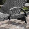 Salem Wicker Adjustable Chaise Lounge with Arms - Christopher Knight Home - image 3 of 4
