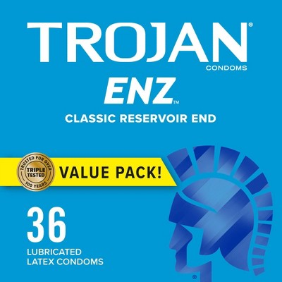 Trojan ENZ Lubricated Condoms - 36ct