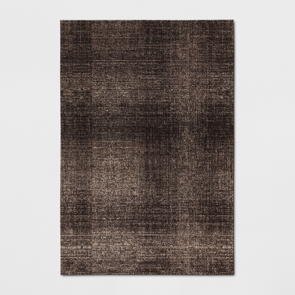 9'X12' Solid Woven Area Rugs Black - Project 62
