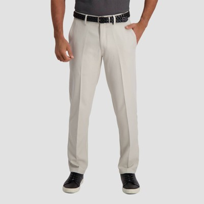 Haggar Men's Cool 18 PRO Slim Fit Flat Front Casual Pants