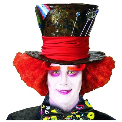 HMS Alice In Wonderland Mad Hatter Orange Adult Costume Wig