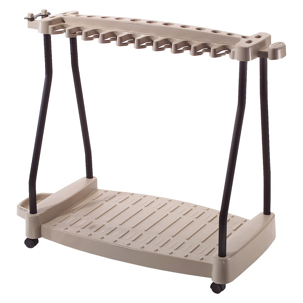 Resin Rolling Tool Cart Taupe Brown Suncast