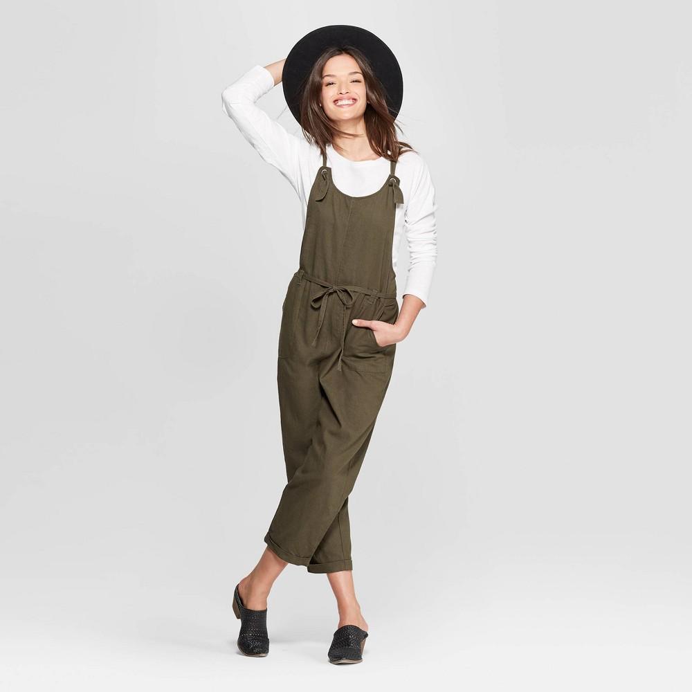Women's Sleeveless Belted Overalls - Universal Thread Olive (Green) Xxl