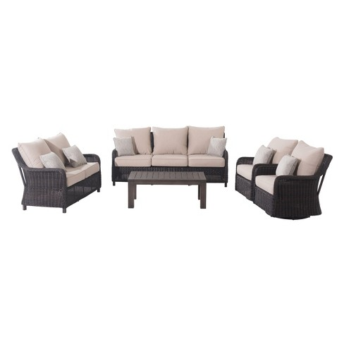 5pc Dighton Deep Seating Set Tan/Brown - Sunjoy - image 1 of 4