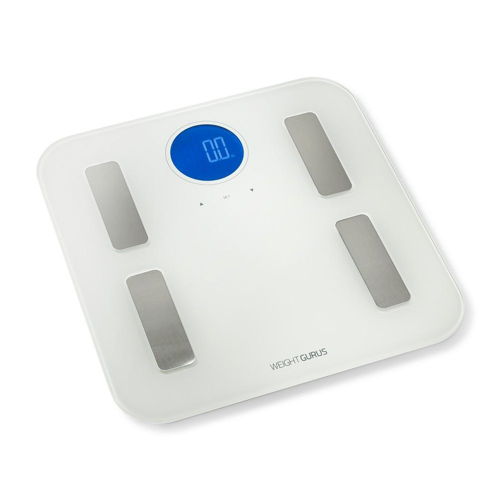 Wifi Plastic/Glass Personal Scale White - Weight Gurus