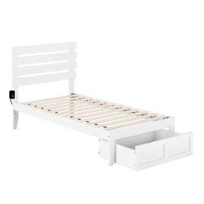 Oxford Bed with Foot Drawer and USB Turbo Charger - Atlantic Furniture