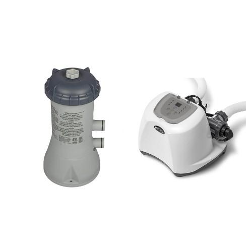 Intex Krystal Clear 1000 GPH Filter Pump & 15000 Gal Saltwater Chlorinator - image 1 of 4