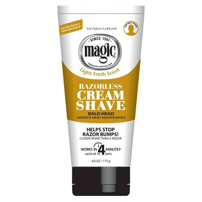 SoftSheen-Carson Magic Razorless Cream Shave Smooth Bald Head Maintenance 6-oz.
