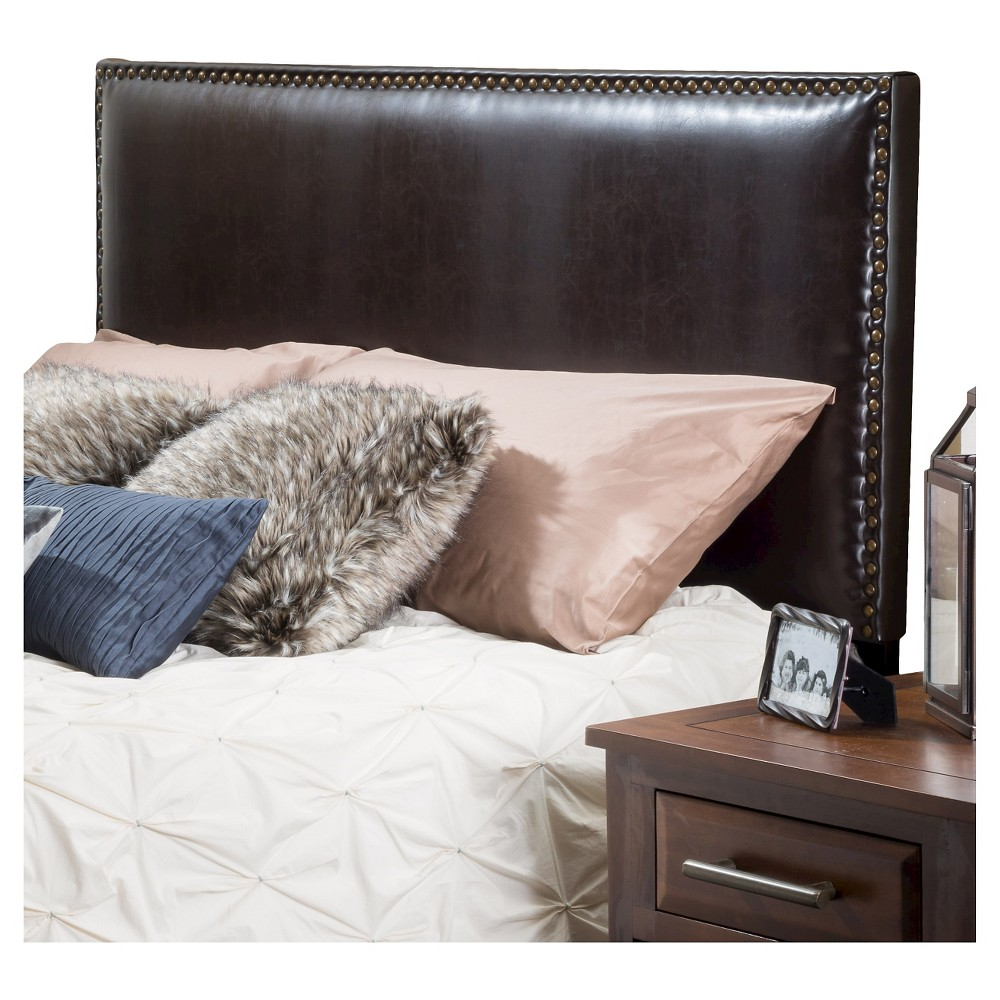 Hilton Bonded Leather Headboard Full/ Queen Brown - Christopher Knight Home