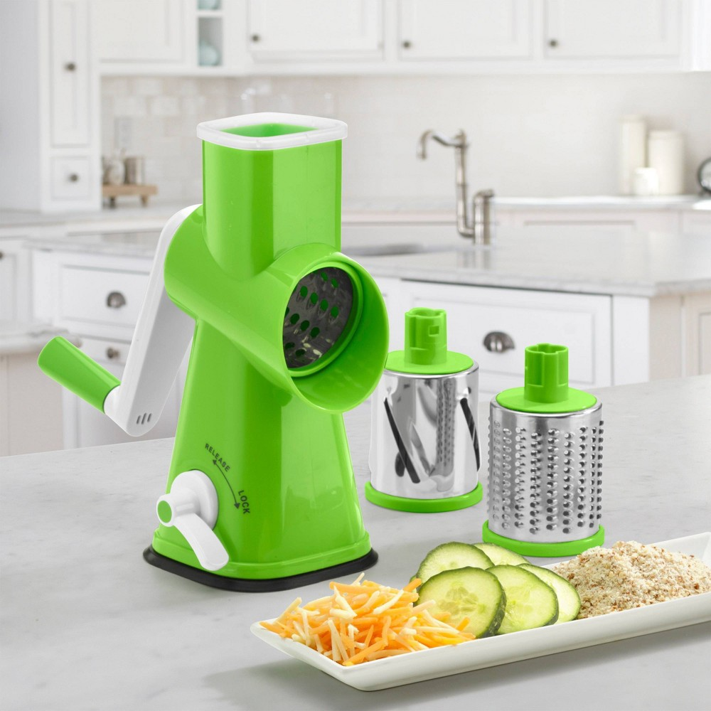 Image of Cuisinart 3 in 1 Deluxe Grater and Slicer, Green
