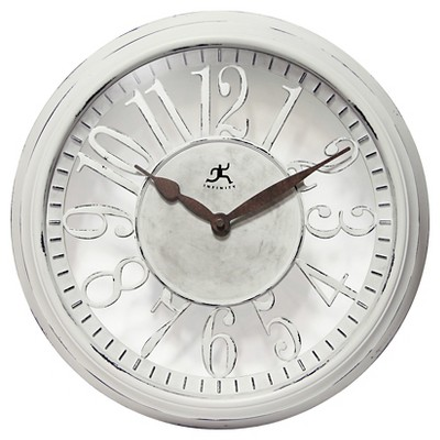 Chalet Wall Clock Distressed White - Infinity Instruments®