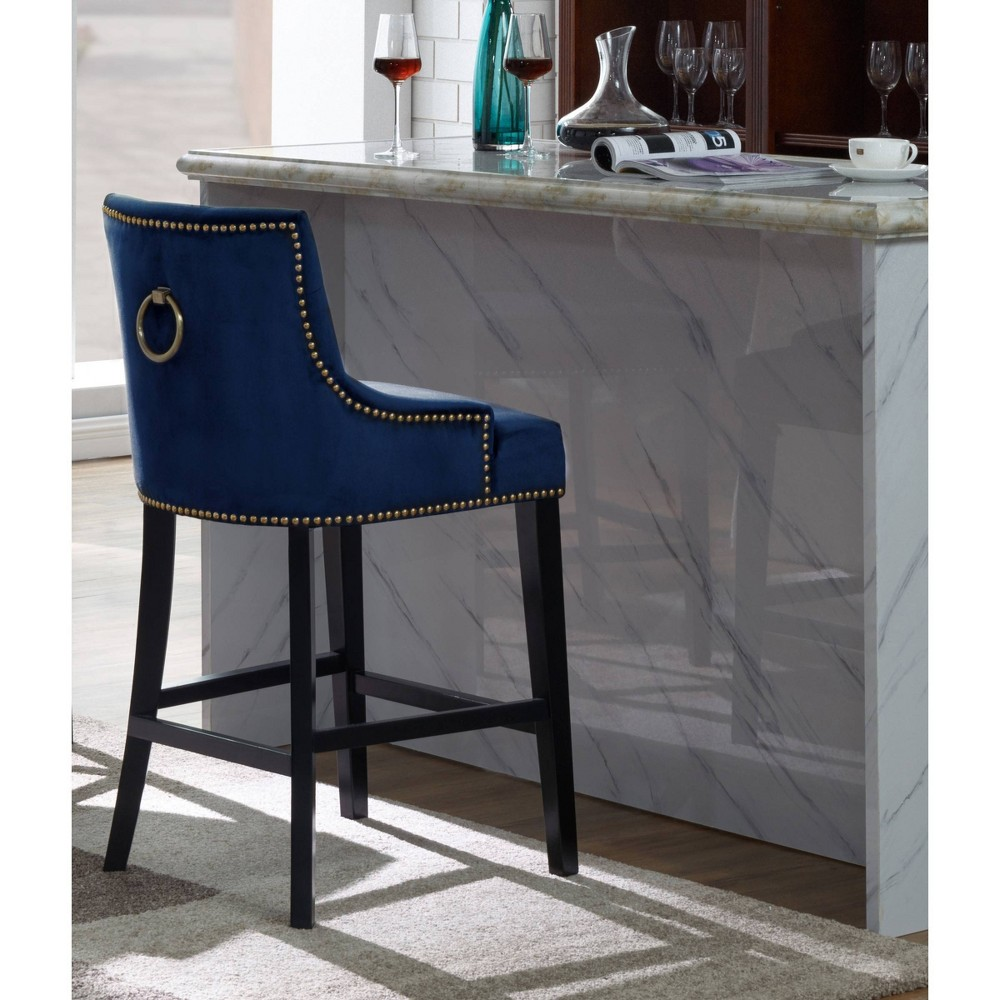 Leigh Counter Height Barstool Navy Chic Home Design