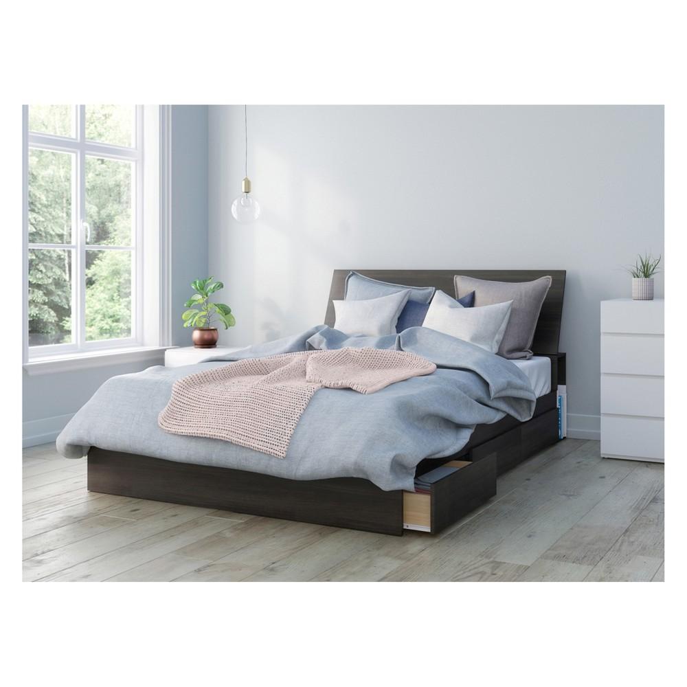 Image of 3pc Iris Bedroom Set Queen Black/White - Nexera
