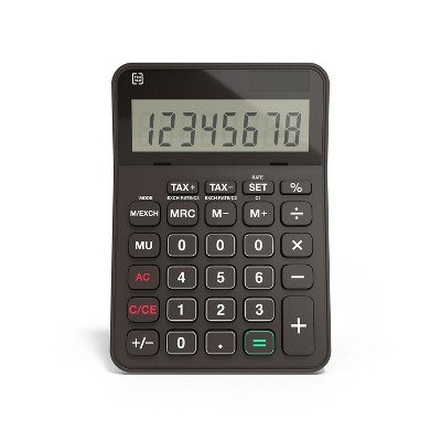 TRU RED TR240 8-Digit Desktop Calculator, Black