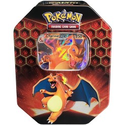 2019 Pokemon Trading Card Game Hidden Fates Fall Tin featuring Charizard GX
