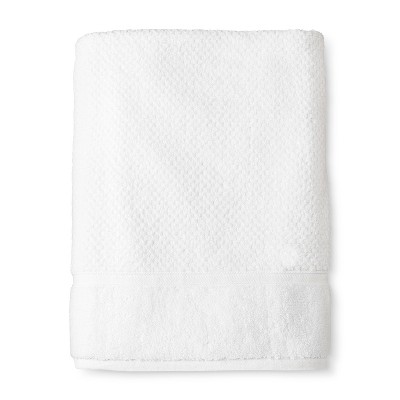 Bath Sheet Performance Texture Bath Towels And Washcloths True White - Threshold™