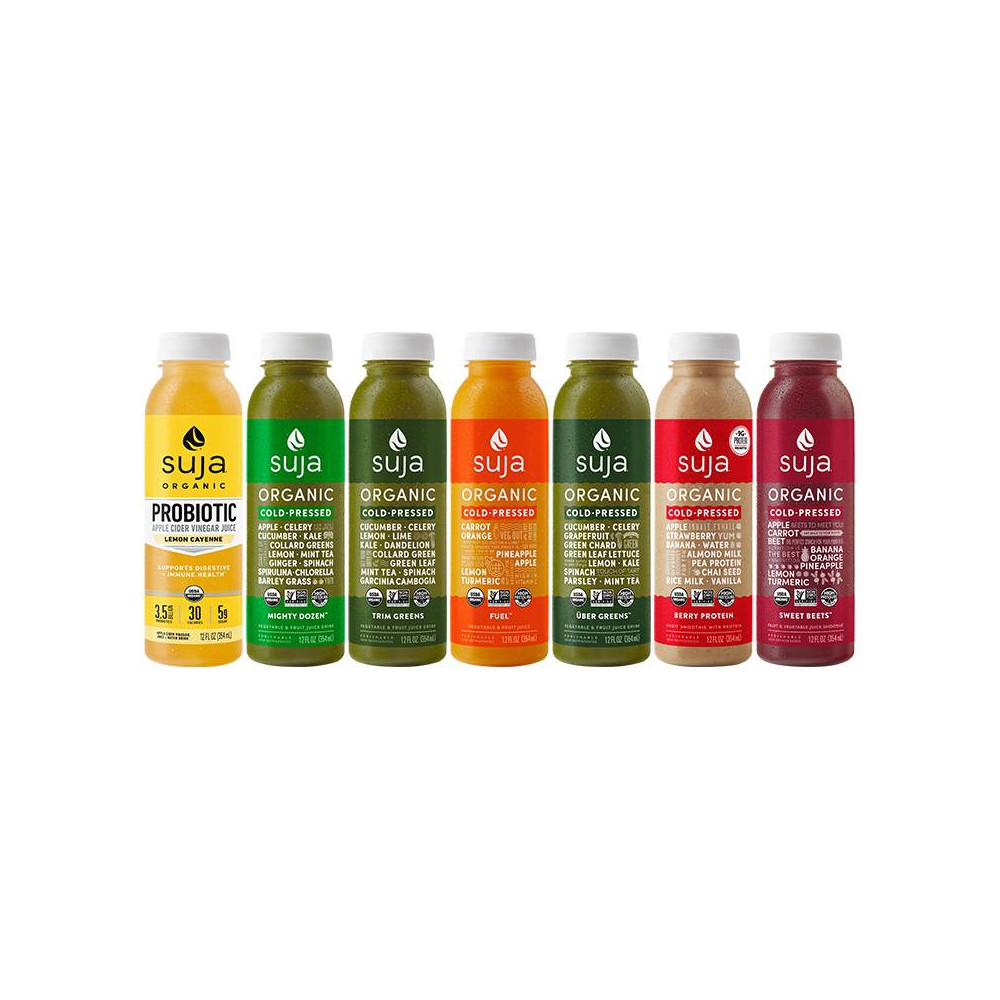 Suja Classic 3-Day Fresh Start Organic Cold Pressed Juice - 21pk / 12oz Bottles