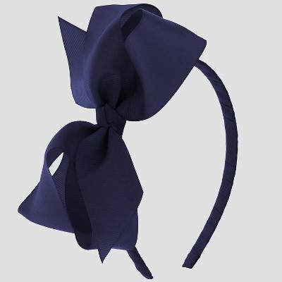 Girls' Side Bow Headband - Cat & Jack™ Navy