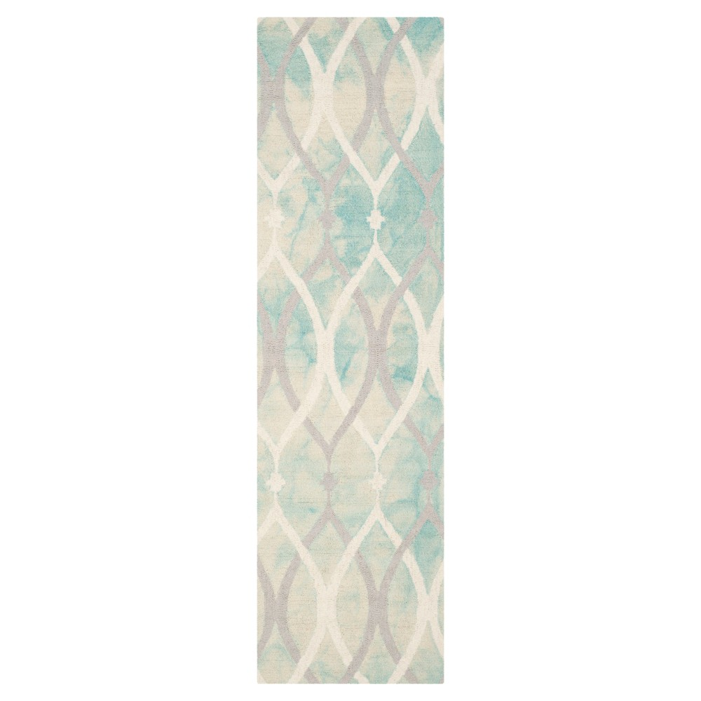 Garret Runner - Green/Ivory Gray (2'3x12') - Safavieh