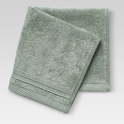 Performance Solid Texture Washcloth Light Sage Green - Threshold™