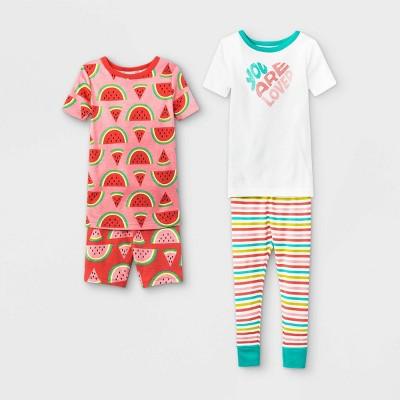 Toddler Girls' 4pc Loved Watermelon Pajama Set - Cat & Jack™ Pink