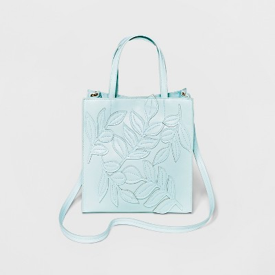 Small Boxy Tote Bag - A New Day™ Mint Green