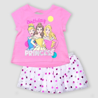 Toddler Girls' Disney Princess 2pc Tutu Set - Pink 5T
