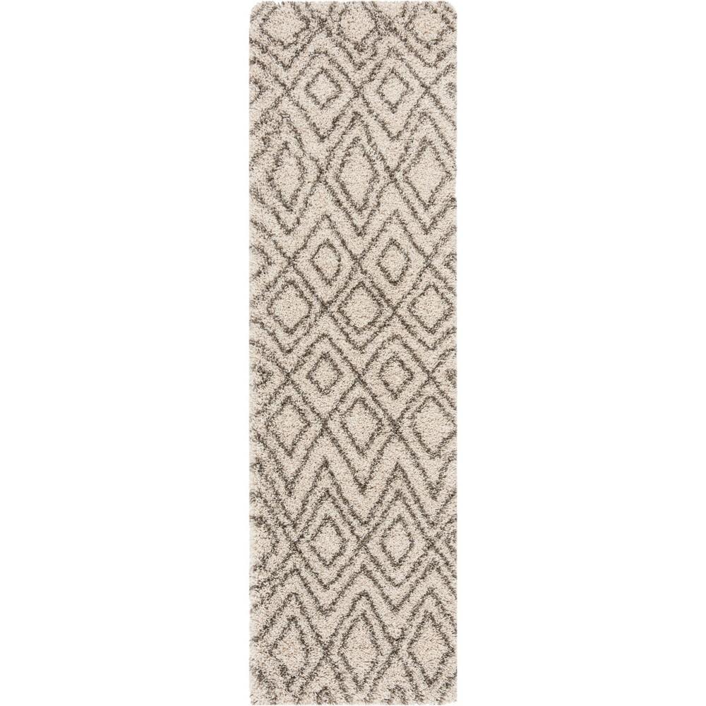 22X8 Geometric Loomed Runner Ivory/Gray - Safavieh Price