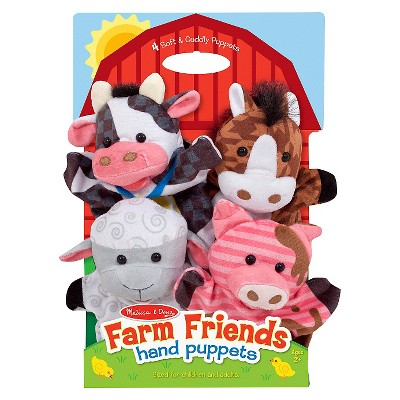 Melissa & Doug® Farm Friends Hand Puppets (Set of 4)- Cow, Horse, Sheep, and Pig