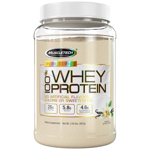MuscleTech Pure Series Protein Powder - Vanilla - 2lb - image 1 of 3